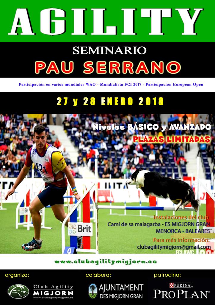 Cartel SEMINARIO PAU SERRANO 2018