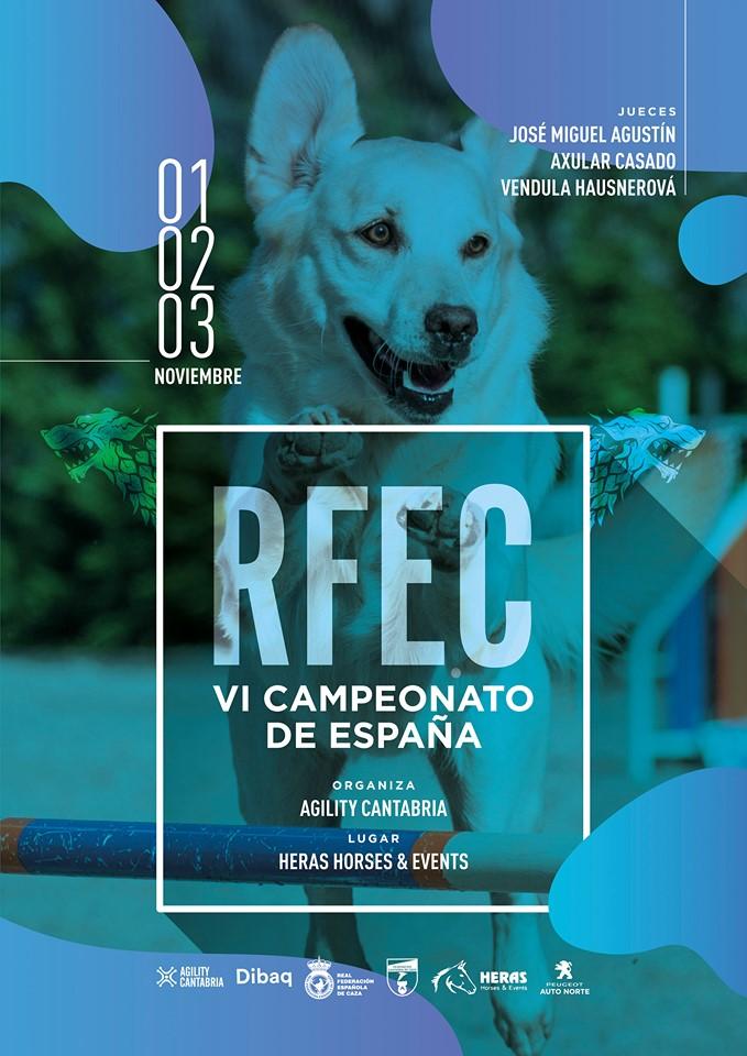 Cartel VI Campeonato España Agility RFEC