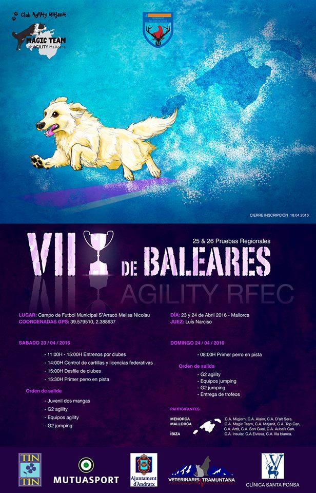 Cartel VII copa Baleares agility