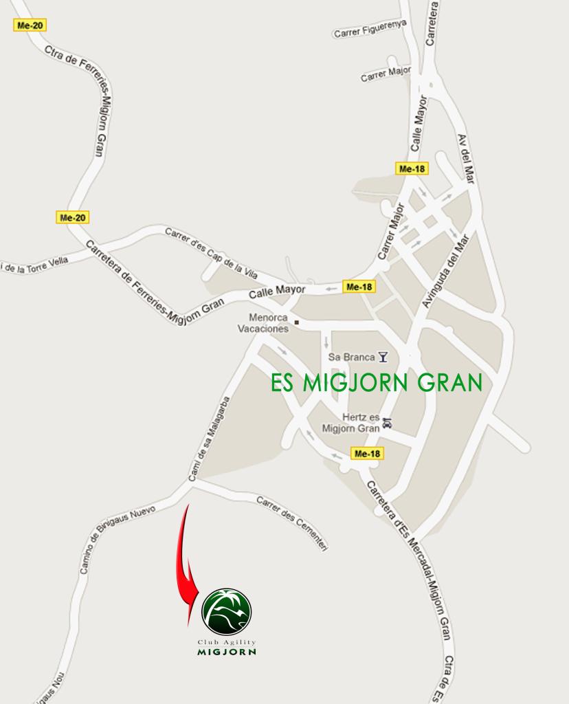 Mapa localización Instalaciones